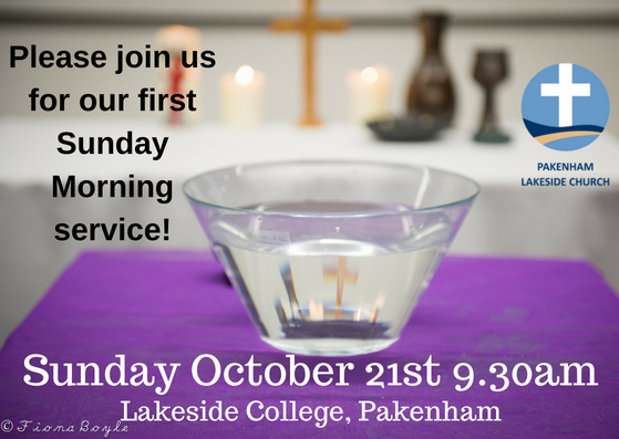 You are invited! - Celebrate with us as we launch Sunday Morning worship.