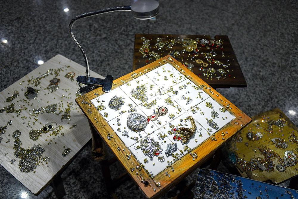 Li Jinghu, 'Constellation', 2015, metal, wood, rhinestone, lamp, 200 x 200 x 87cm. Image courtesy of the artist and Magician Space.