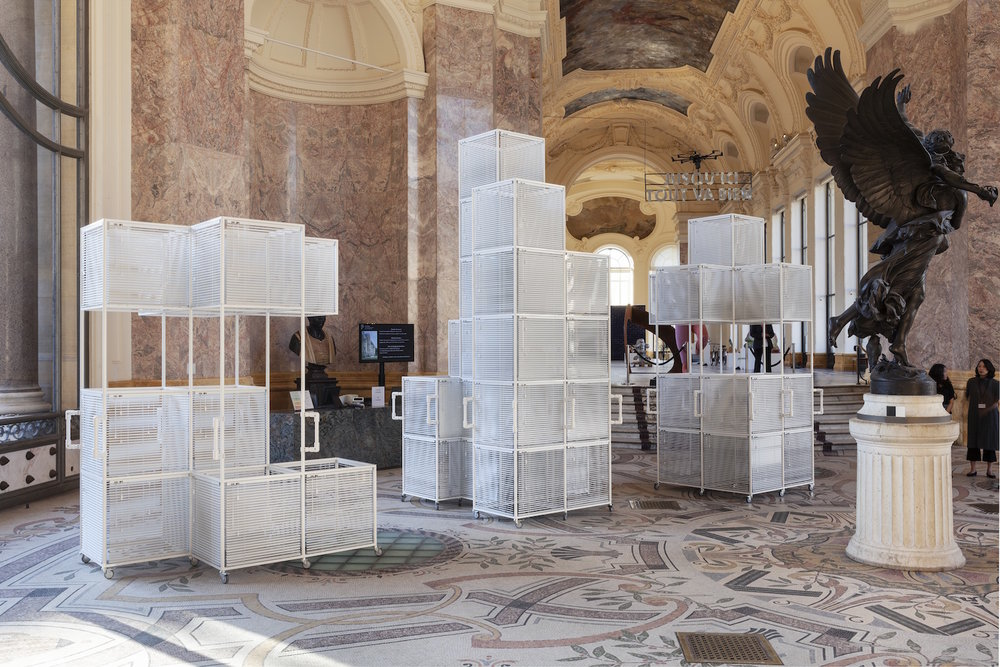 Hague Yang, installation view image of 'Sol LeWitt Vehicles' for 'FIAC Projects' at the Petit Palais, Paris, 2018. Photo: Sebastiano Pellion. Image provided by Kukje Gallery.