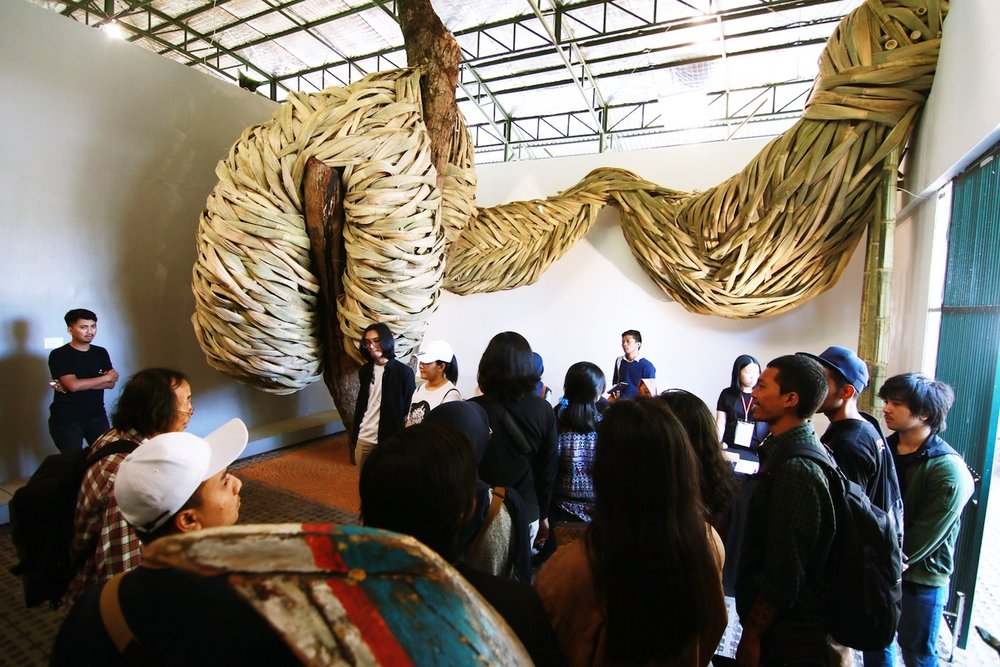 Joko Avianto, 'Poem of Epiphyte', 2018, site specific installation, variable dimensions. Image courtesy of Selasar Sunaryo Art Space.