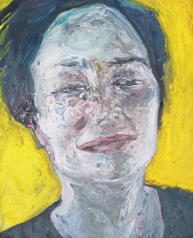 Maya Muñoz, 'Portrait (Yellow)', 2018, oil on canvas, 45 x 38cm. Image courtesy of the artist and Yavuz Gallery.