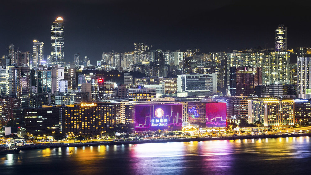 Niio and Sino Group have collaborated to launch the inaugural Sino x Niio Illumination Art Prize. Winning artworks will be displayed on two of the world's most prominent screens: harbour facing facades of Tsim Sha Tsui Centre and Empire Centre buildings in Hong Kong. Image courtesy of Sino Group.