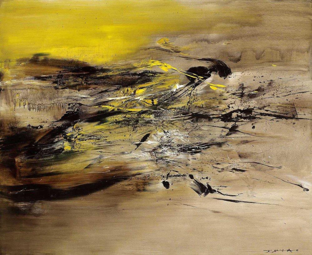 Zao Wou-Ki, '22.07.64', 1964, oil on canvas, 161.5 x 199.5cm. Image courtesy of Christie's.