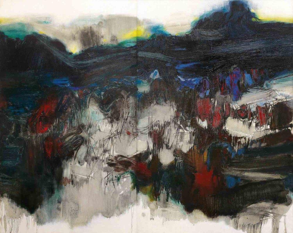 Chu Teh-Chun, 'Untitled', 1963, oil on canvas, 195 x 243.5cm. Image courtesy of Christie's.