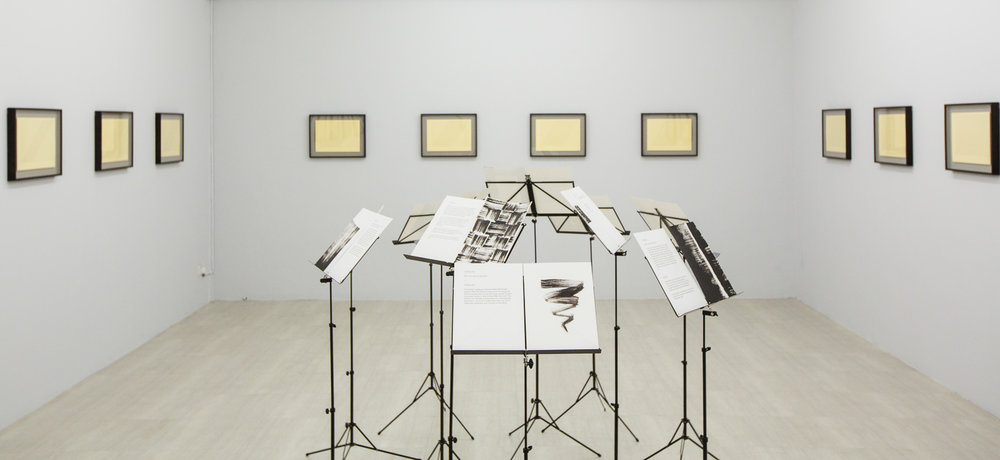 Ang Song Ming, 'Notes', 2015, installation of 11 music stands with 11 printed texts and 11 acrylic sketches, dimensions variable. Image courtesy of the artist and Singapore Art Museum. Private collection of Lauren Bogen and Richard Nijkerk.