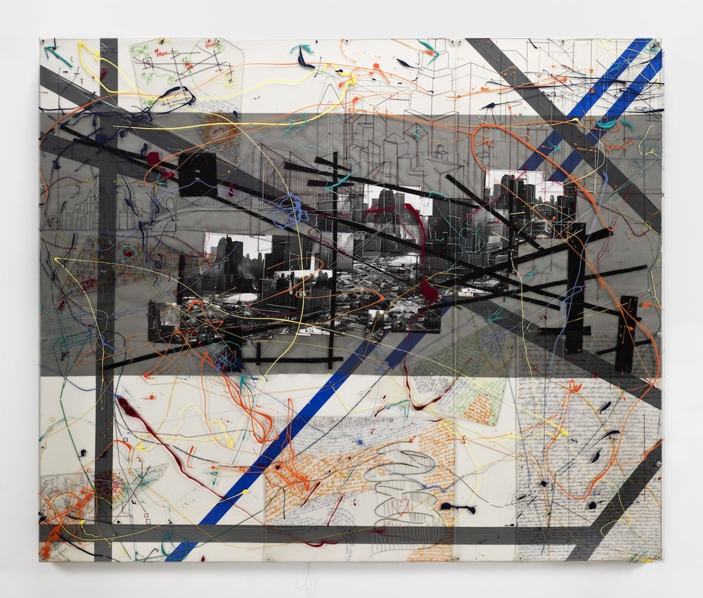 "Lucy Liu, 'Velocity', 2006-2008, mixed-media on canvas, 60"" x 72"". Image courtesy of Ryan Foundation."