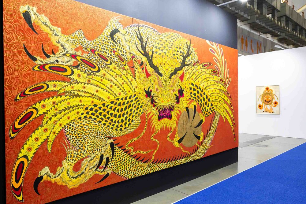 Installation view of Mizuma Art Gallery's booth. Image courtesy of Taipei Dangdai.