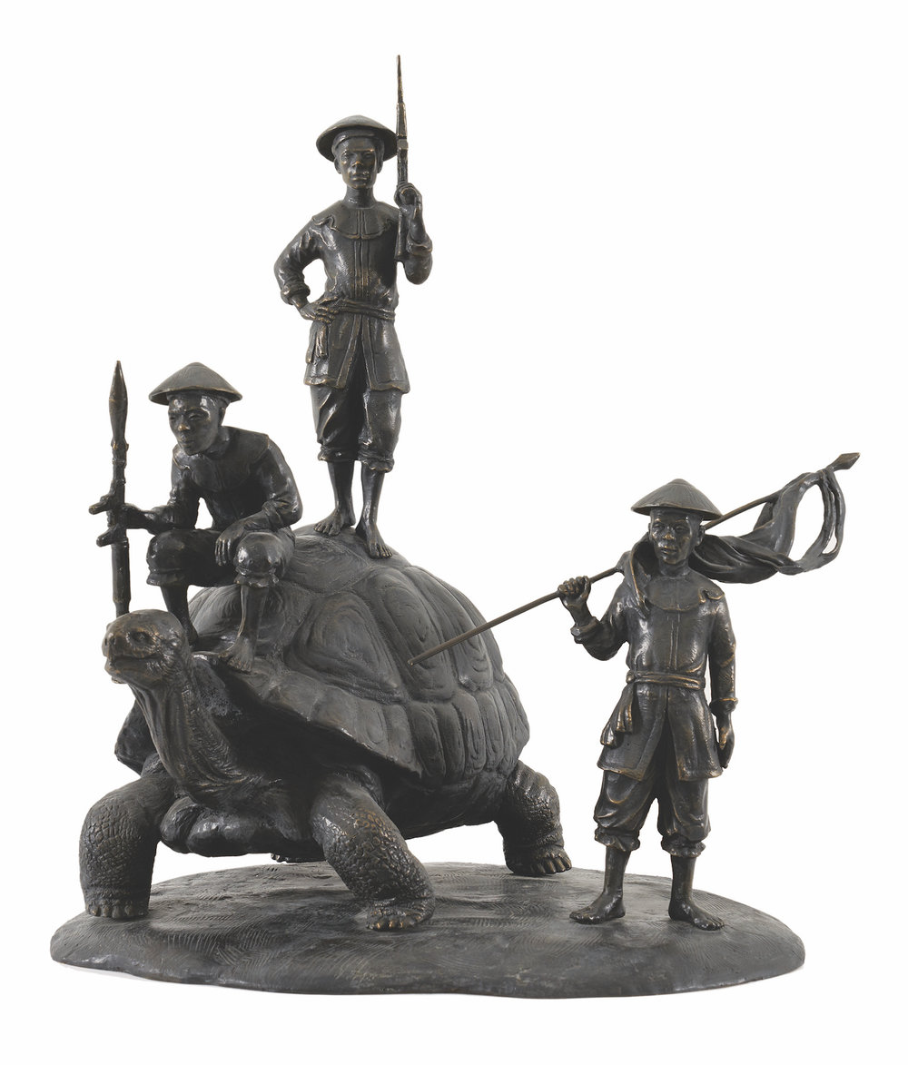 Nguyen Manh Hung, 'Checkpoint', 2016, cast bronze, 35 x 35 x 40cm. Image courtesy of Galerie Quynh.
