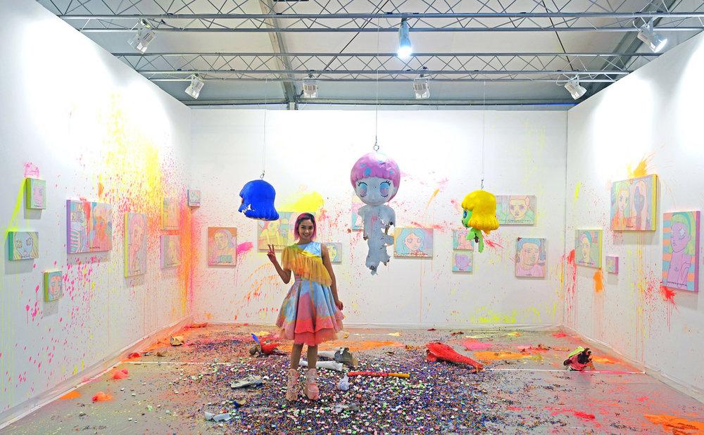 Yeo Kaa, 'WUD YA DO IT', 2019, Installation view at S.E.A. Focus. Image courtesy of Yavuz Gallery.