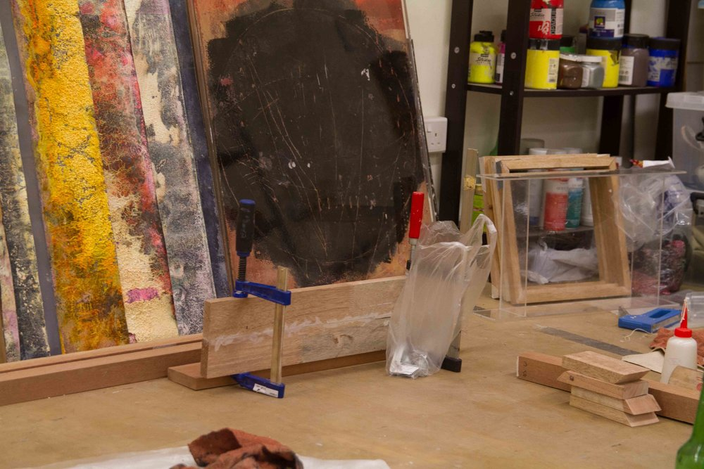 A view from Jay's current studio. Image courtesy of the artist.
