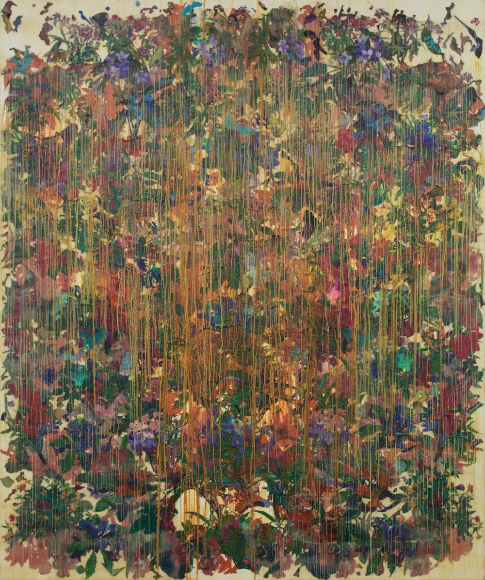 Geraldine Javier, '838/1.5', 2018-2019, transfer, acrylic, wax, encaustic on canvas, 304.8 x 243.84cm. Image courtesy of Silverlens Galleries.