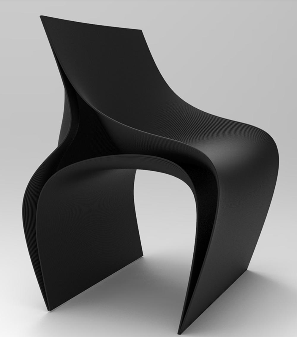 Daniel Widrigova 3D ispisana stolica - izvor: deezen.com