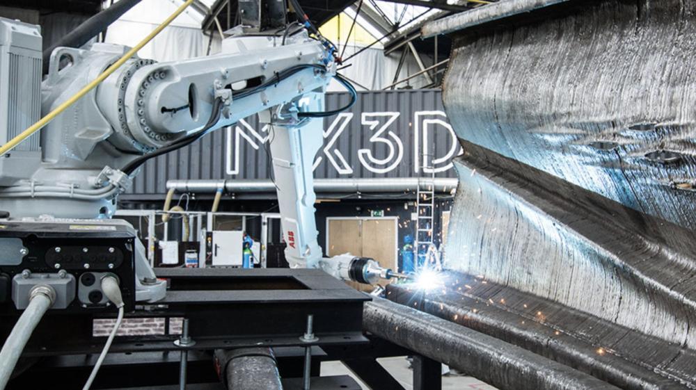Proizvodnja MX3D-ovog mosta, izvor: mx3d.com
