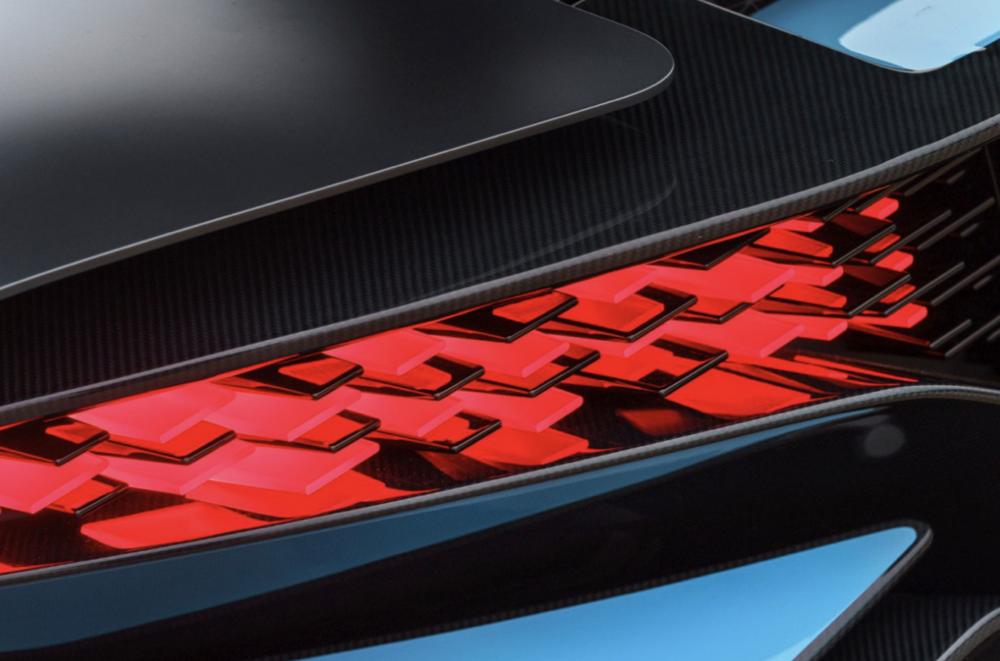 3D ispisani elementi zadnjih svjetala, izvor: Bugatti