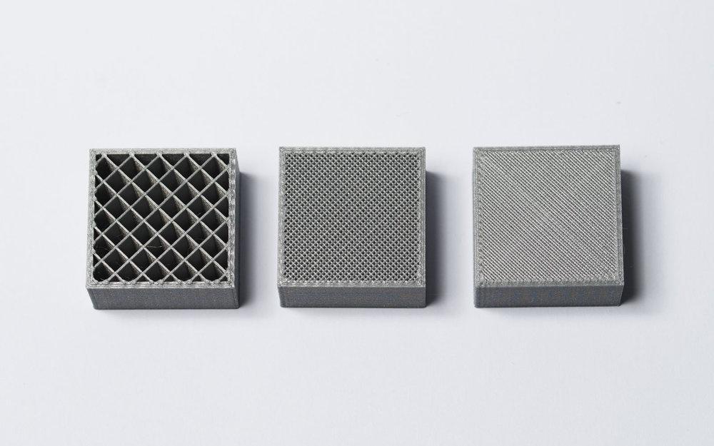 različite popunjenosti 3D printanog objekta - izvor: 3dhubs.com
