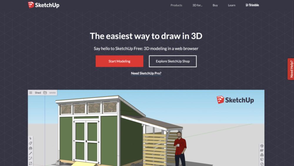 Sketchup web stranica -