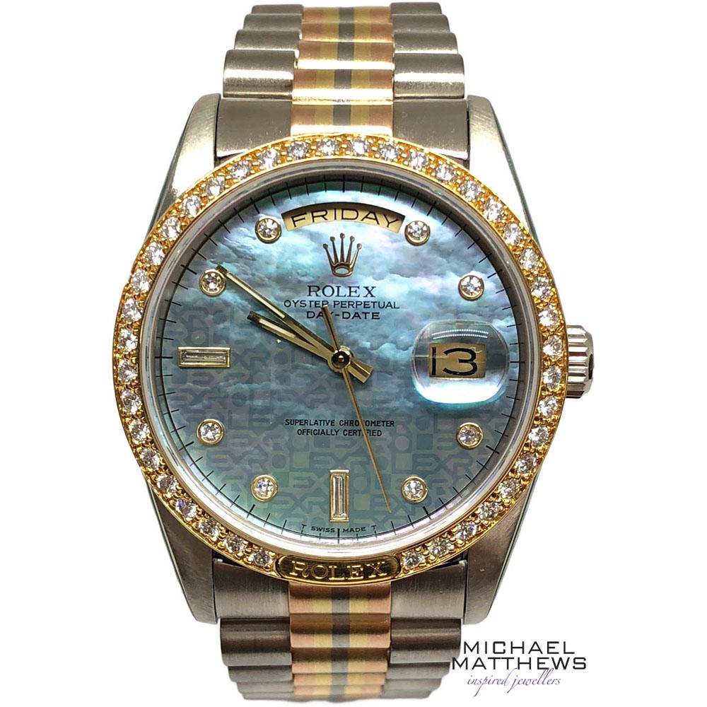 4670b91fb5c7 Rolex Day-Date Tridor Watch — Michael Matthews Jewellery ...