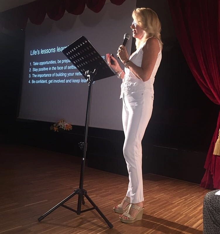Guest speaker at Swans International School Graduation Ceremony, Marbella