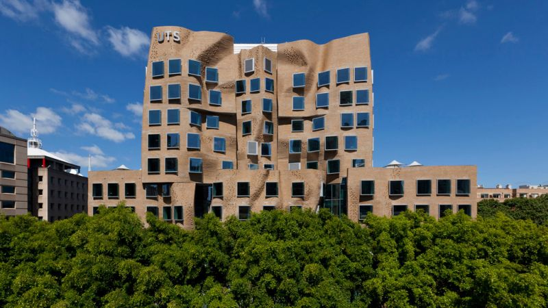 Pictured: Dr Chau Chak Wing at UTS by Frank Gehry.