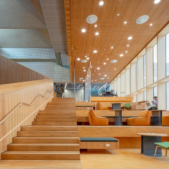 Pictured: Monash University by John Wardle Architects.