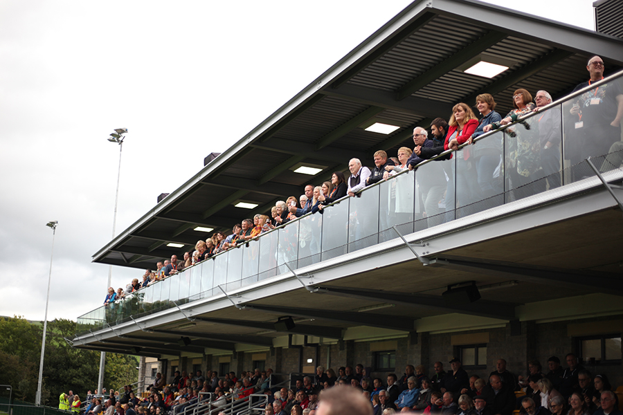 VIP grandstand and balcony viewing -