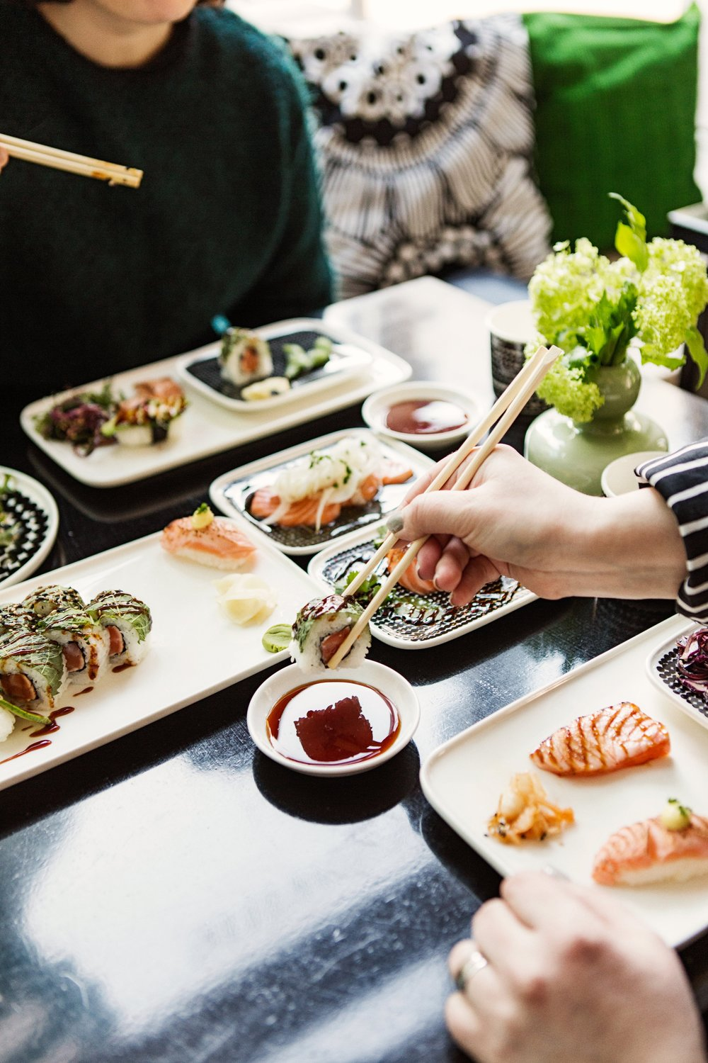Sushibar+Wine - Sushibar + Wine combines excellent sushi, Scandinavian design and organic wines into an enjoyable experience! Each of our four Sushibar+Wine restaurants represent their distinctive neighborhoods. We serve lunch, dinner and take-away at Uudenmaankatu, Korjaamo, Fredrikinkatu and Citycenter.Visit website