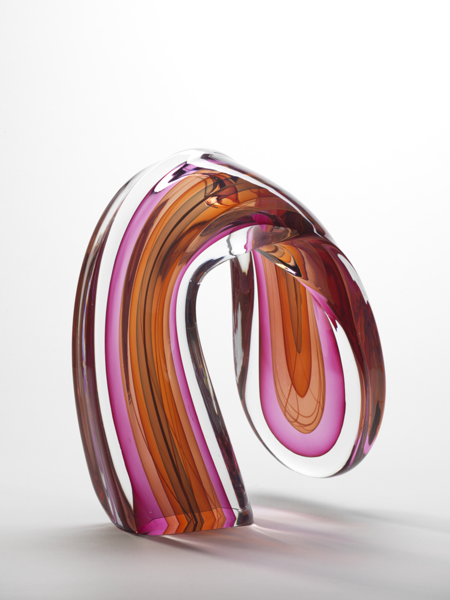 Pink Loop , 1983  Harvey K. Littleton (American, 1922–2013)  Blown and cased glass  Cincinnati Art Museum, The Nancy and David Wolf Collection