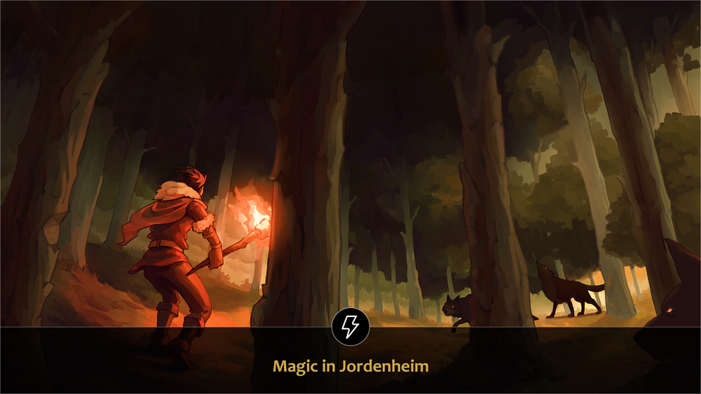 Jordenheim is a low magic world, where its use is limited and controlled by only the gifted few. But when it is used, the outcome is uncertain. -