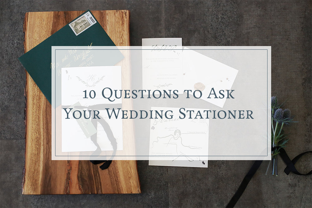 10 Questions to Ask Your Wedding Stationer