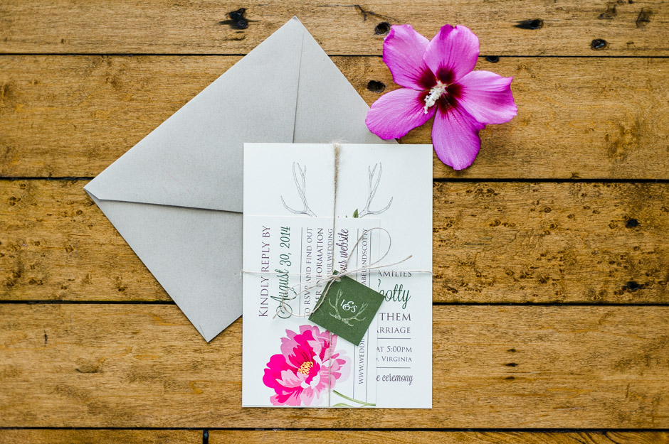 Isabel and Scotty's Modern Rustic Wedding Invitations