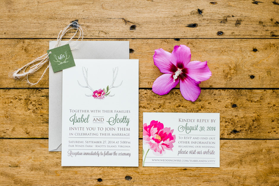 Isabel & Scotty's Modern Rustic Wedding Invitations