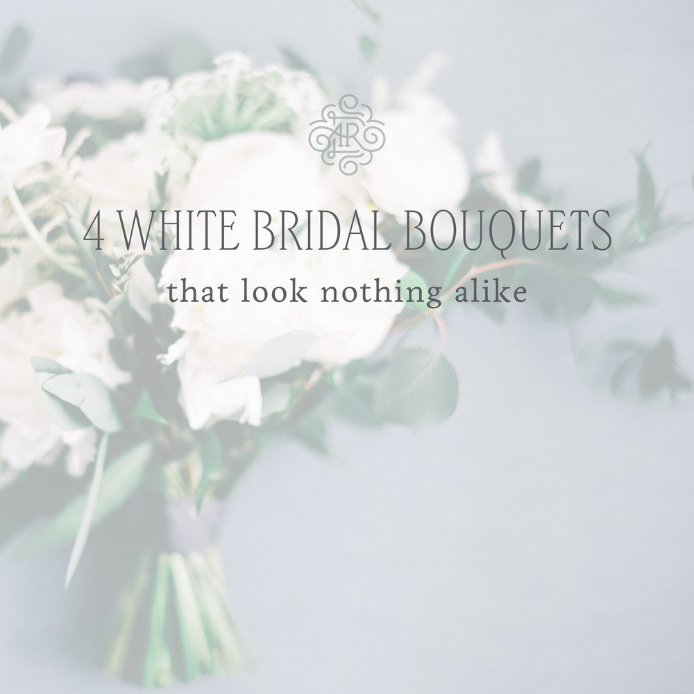 4 White Bridal Bouquets That Look Nothing Alike