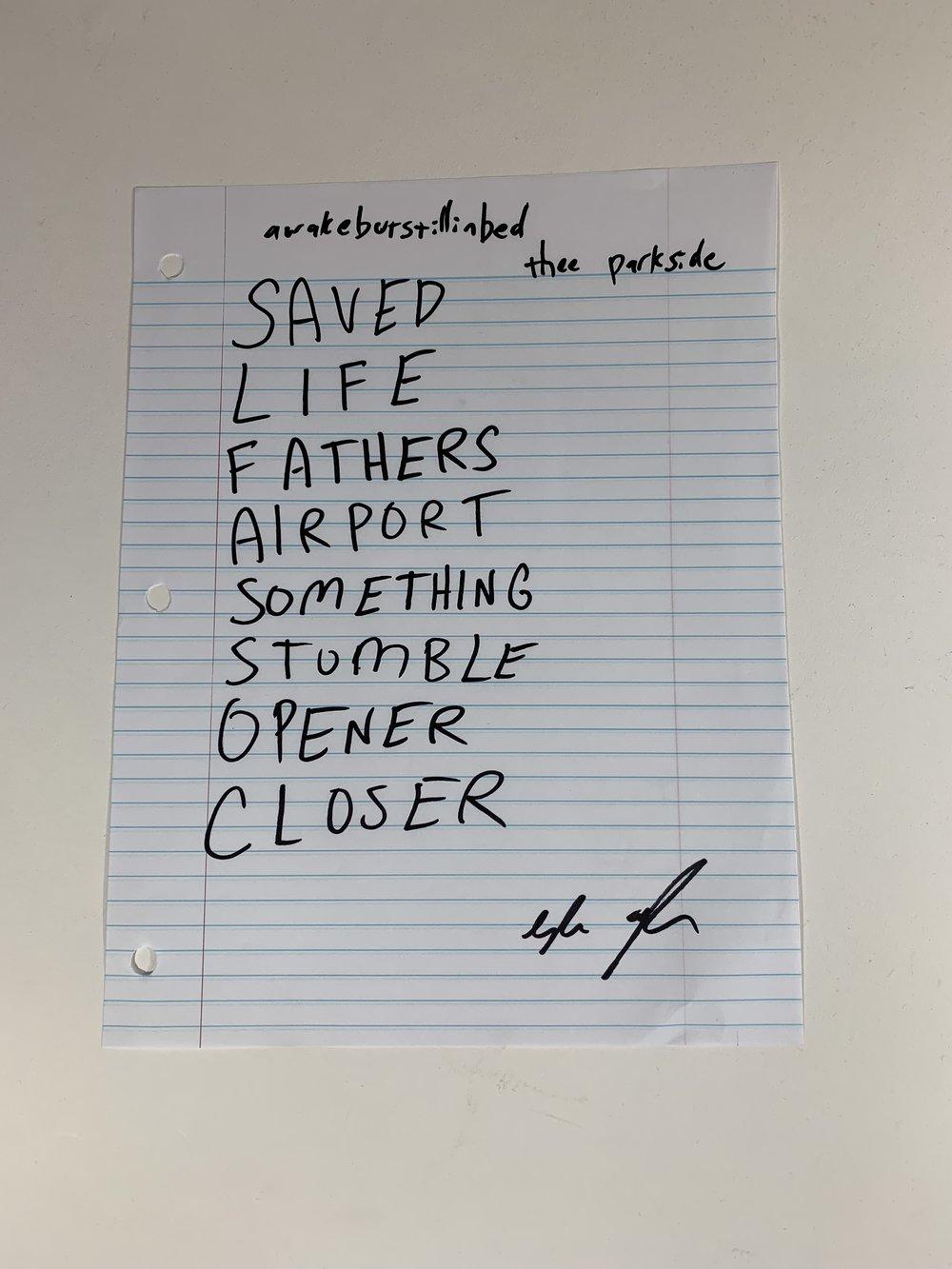 awakebutstillinbed | The Parkside | 3/1/19