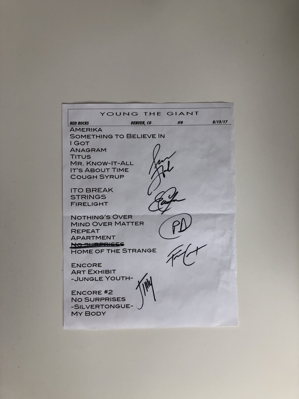 Young The Giant | Denver, CO | 8/15/17