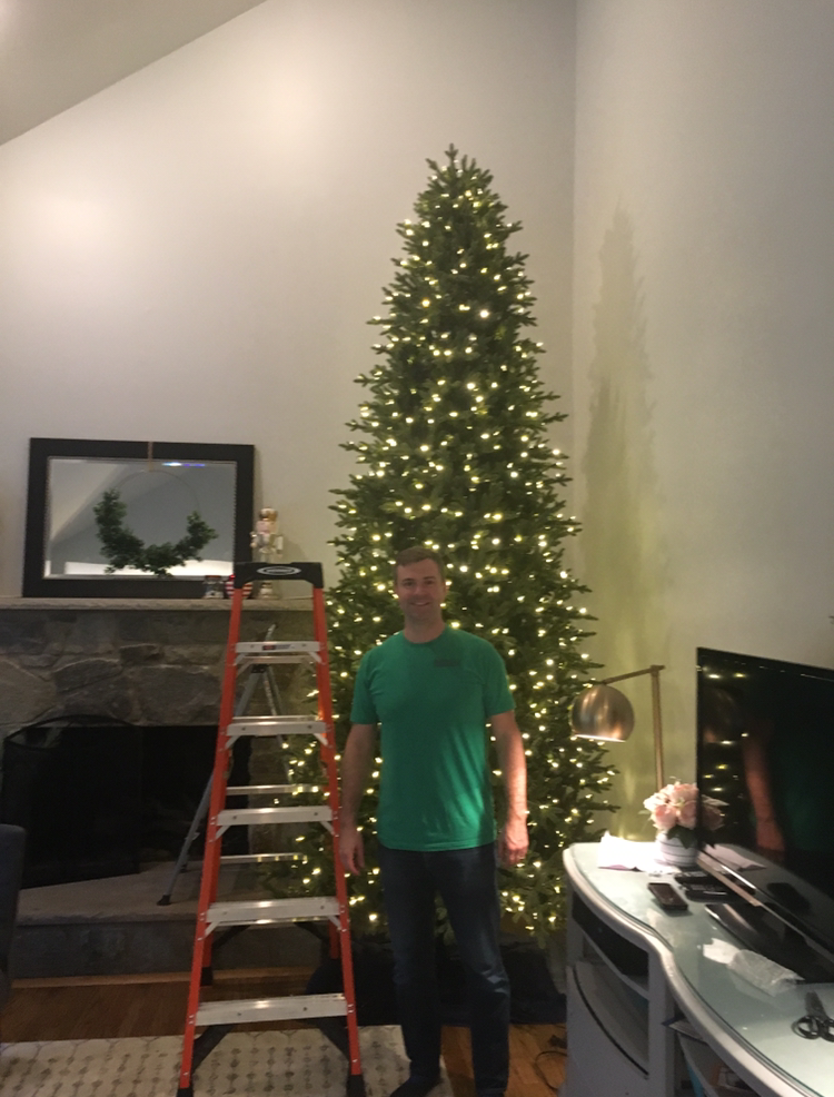 - I made Steve pose in front of the tree (with the ladder, of course) for scale.