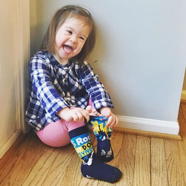 Happy World Down syndrome day! 🎉 We are rocking our @johnscrazysocks over here and celebrating our Lulu. We are 3.5 years into our Down syndrome journey and wouldn't change a thing!!! . . . #nothingdownaboutit #theluckyfew #downsyndrome #worlddownsyndromeday