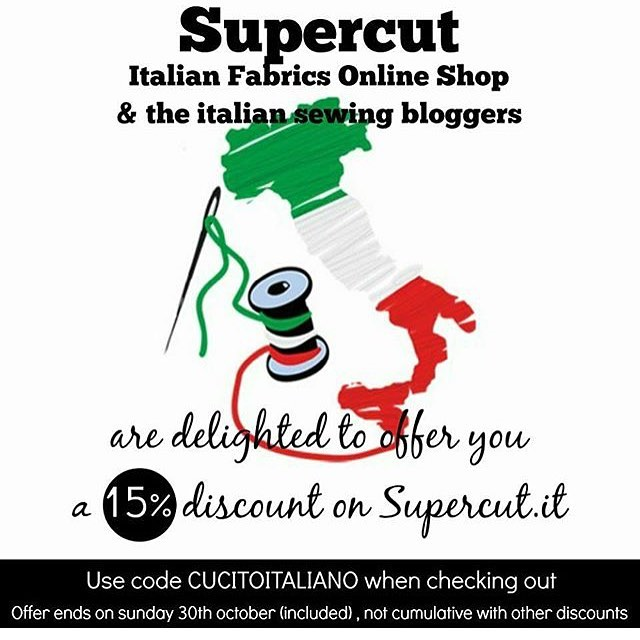 Hey guys! Long time no... see? Blog? Whatever. I'm alright, just very very very busy! Anyways, I'm still the usual fabric addict, so I had to share this discount code from @supercutit ! Please take advantage of it, I know I will!