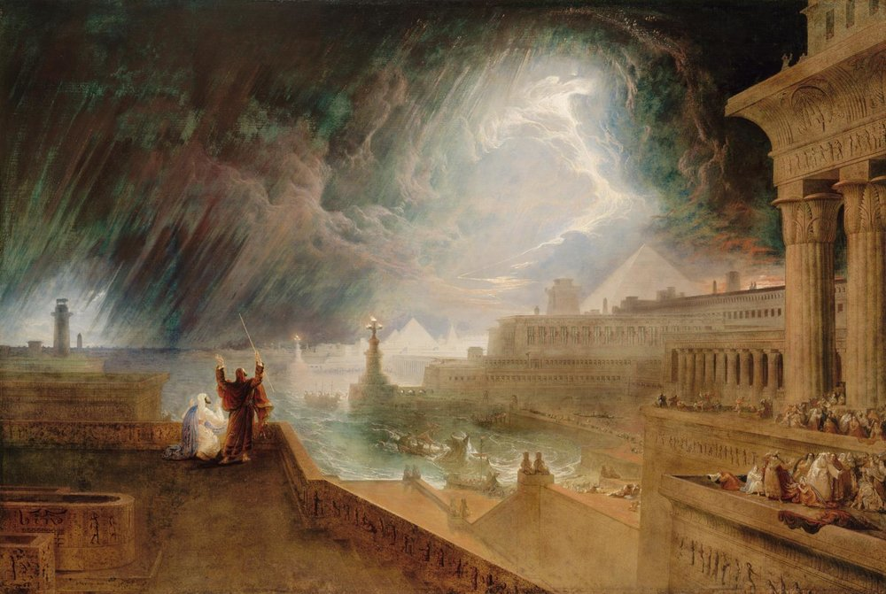 Seventh Plague of Egypt,  John Martin 1823 Image from  Museum of Fine Arts Boston
