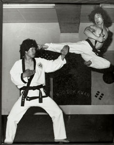 """Grand Master Kim demonstrating a """"Flying High Kick"""" - 9th Degree Black Belt (DAN) One of the highest ranked and well respected Korean instructors in the world."""