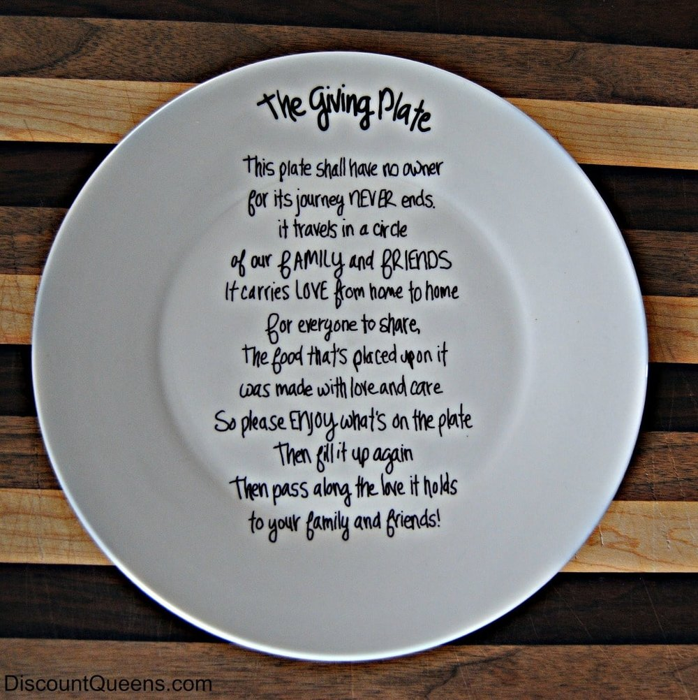 Giving plate - picture for reference only -  Sponsored by Nikki Young