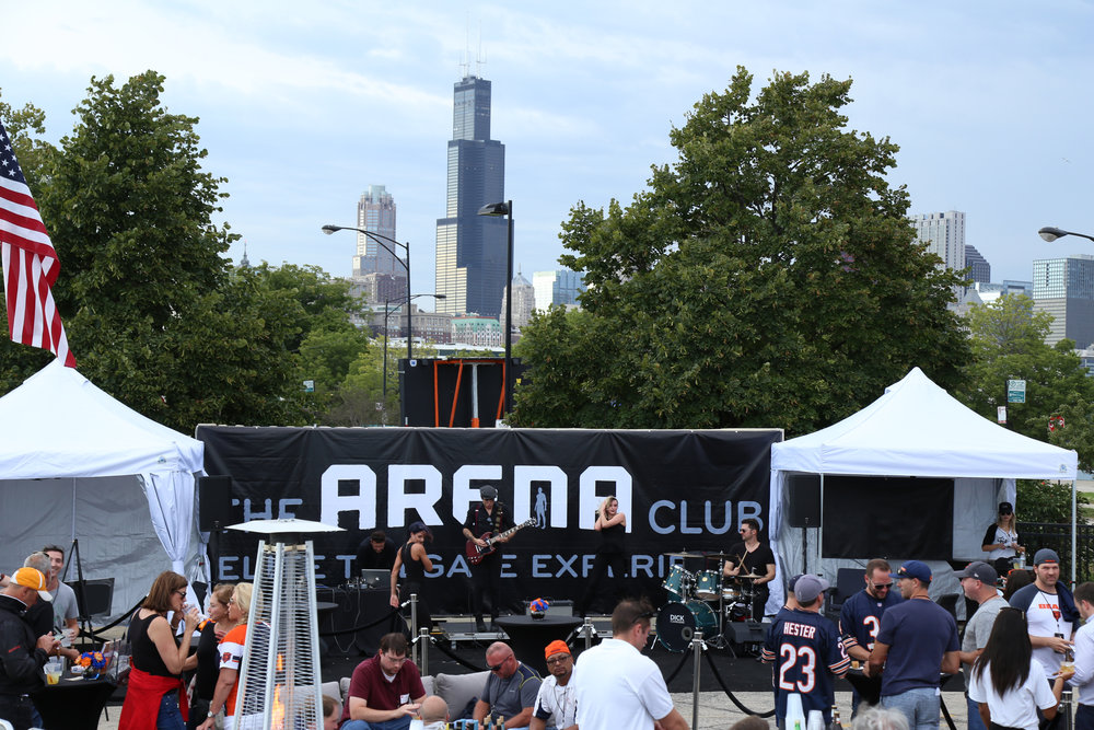 AUthenticity of a TAILGATE  - Secure access, premium amenities and weather protection if needed, smack dab in the midst of all the pre-game tailgate excitement outside Soldier Field.