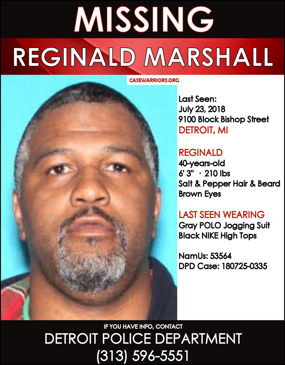 REGINALD MARSHALL