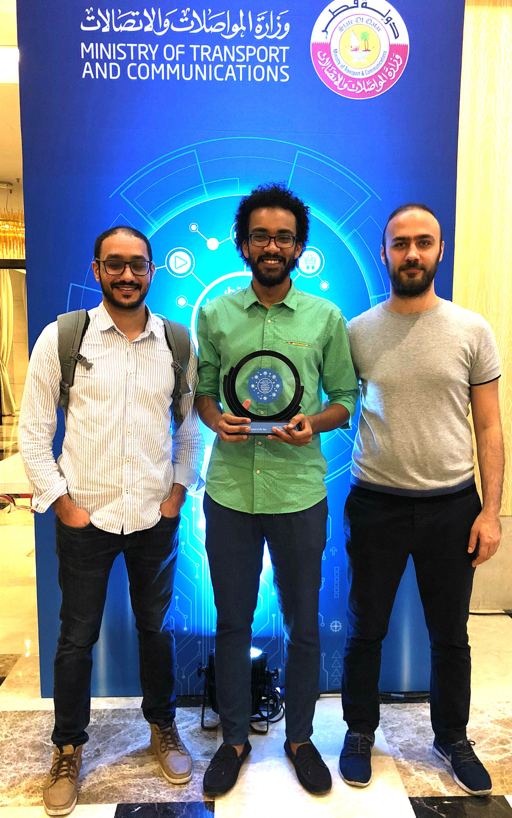 Airlift Co-Founder and lead mechanical engineer Musab AlMozien (left), CEO myself (middle), and CTO Nebras Ozzo (right).