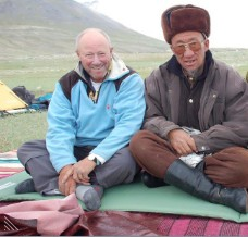 Bill on left with Shah of Wakhan