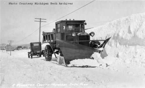Houghton County Snow Plow