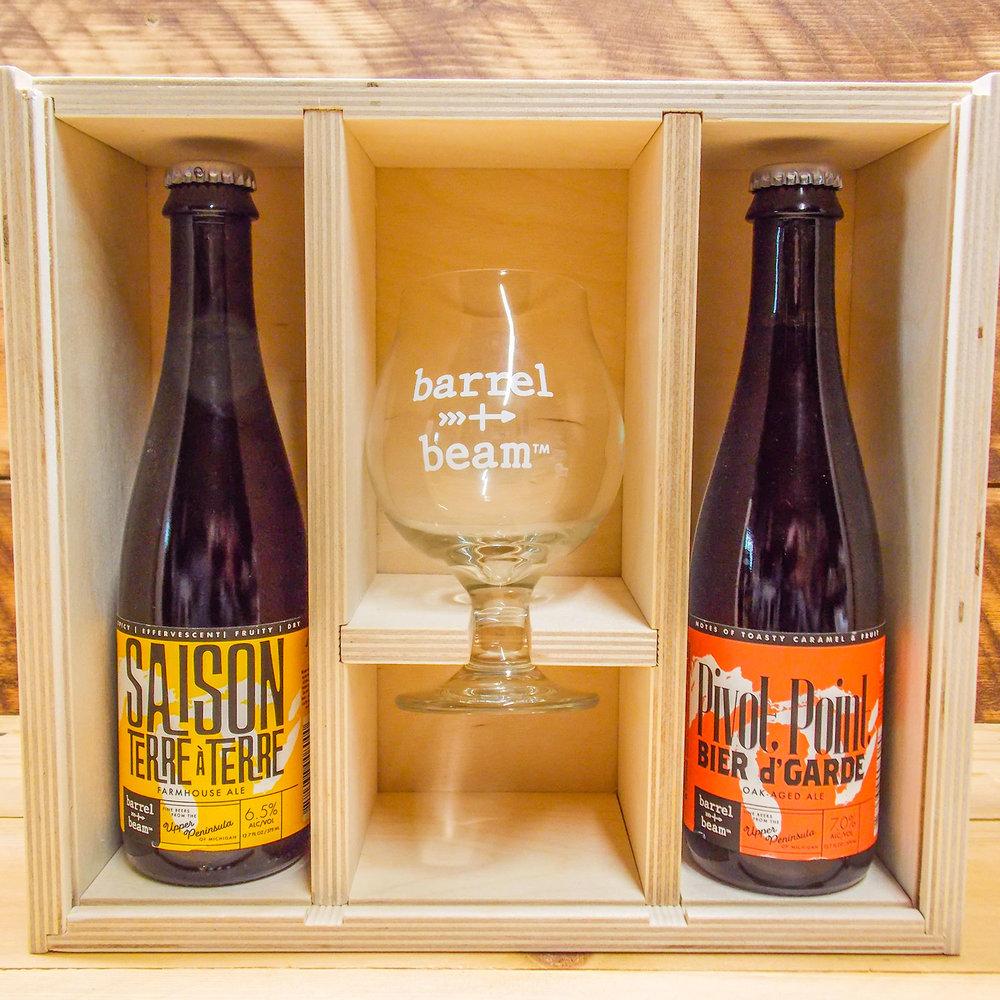 Barrel and Beam custom gift box
