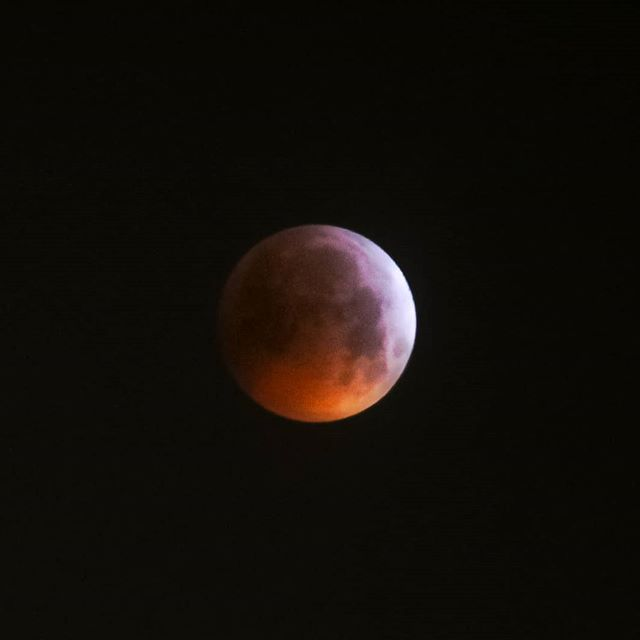 Moon Eclipse Totale 21.01.2019 🌕. Amazing phenomenon. I shot the picture this morning between 4.am and 6.am with a Canon 700D and macro focus 75-300 mm. I was freezing!!!! ❄️#moon #eclipse #photo #earlymorning #cosmic #contemplation #geneva