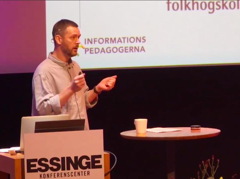 """- Delseminarium om digitalisering och lärande under temat """"Hur skapar vi kvalitet i folkhögskolornas bildningsmiljö?"""" Lärarnas hus i Stockholm, november 2018."""