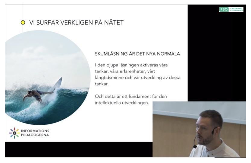 - Föreläsning och workshop på Folkhögskolornas digitaliseringskonferens, 29 november 2018. Arrangerat av FSO och Sveriges folkhögskolor.