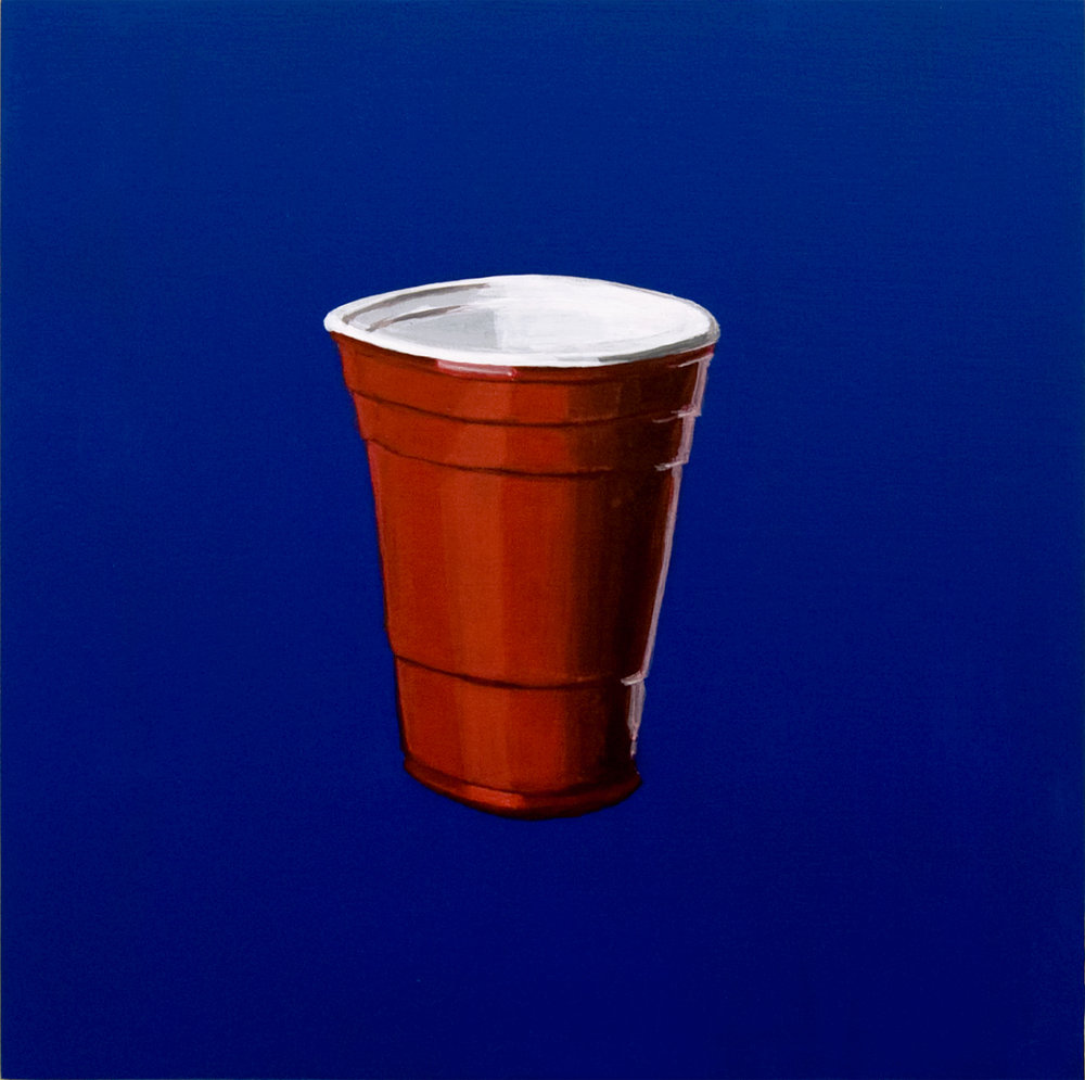 American Party Cup 2017 Acrylic on birch ply, 12 x 12 in